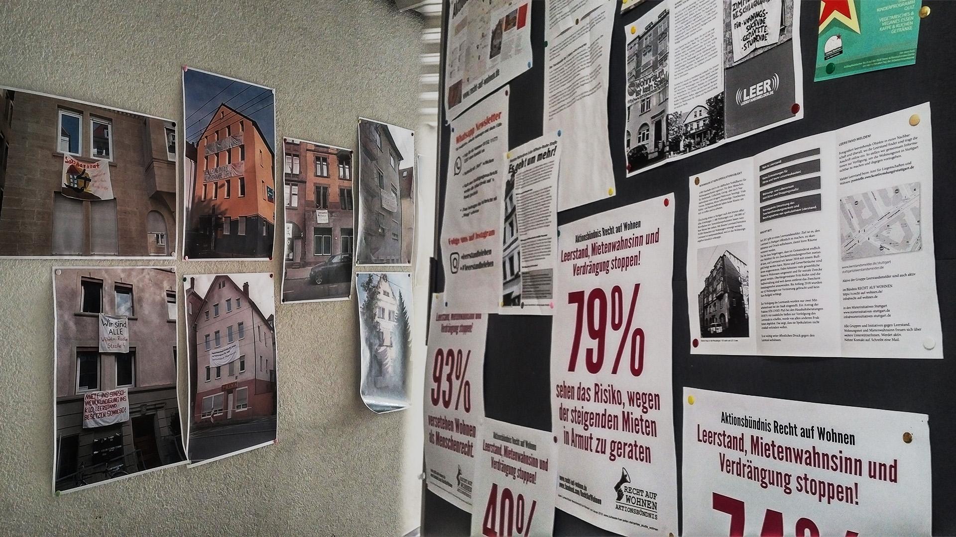 Das Haus in Heslach ist seit Samstag besetzt