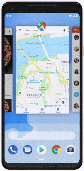 Die Gestensteuerung von Android 9