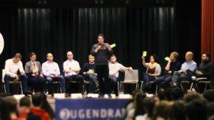 die Kandidaten bei der Podiumsdiskussion