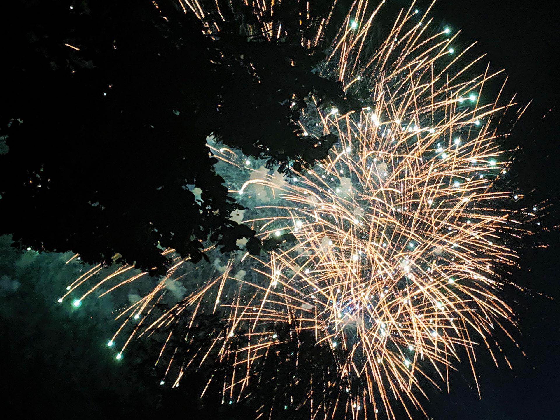 Feuerwerk bei den Flammenden Sternen 2019