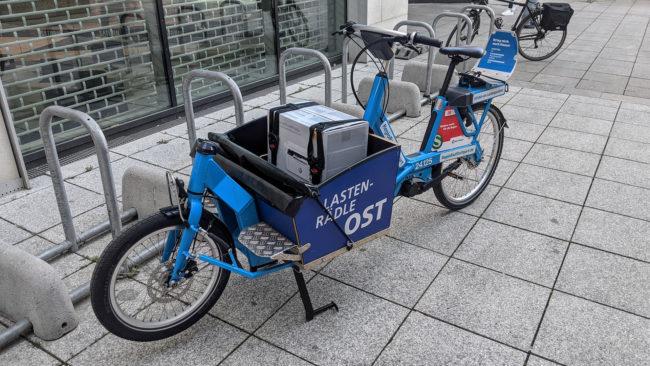 Ein Lastenrad von Regiorad Stuttgart